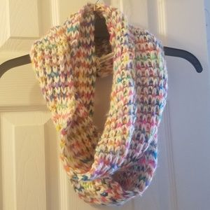 Aeropostale knit infinity scarf multicolored